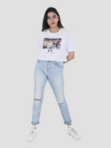 BTS Crop Over-Sized T-shirt