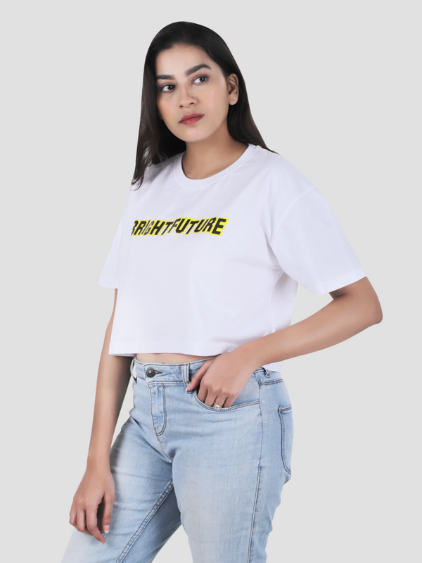 Bright Future Crop Over-Sized T-shirt
