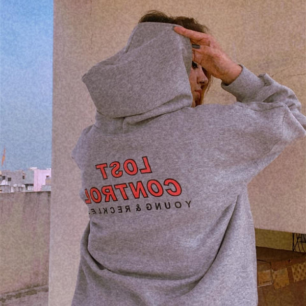 Over-sized Lost Control Hoodie