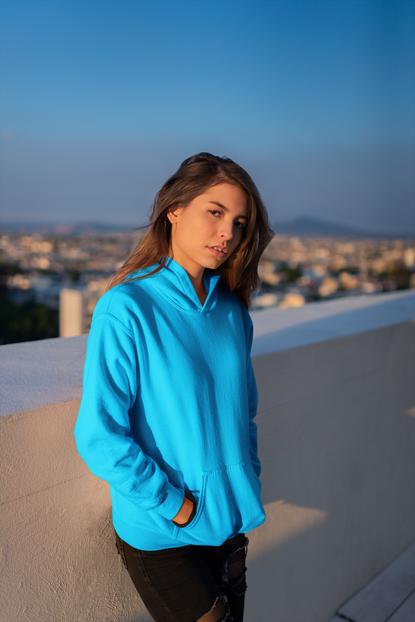 Over-sized Lilac Blue Hoodie