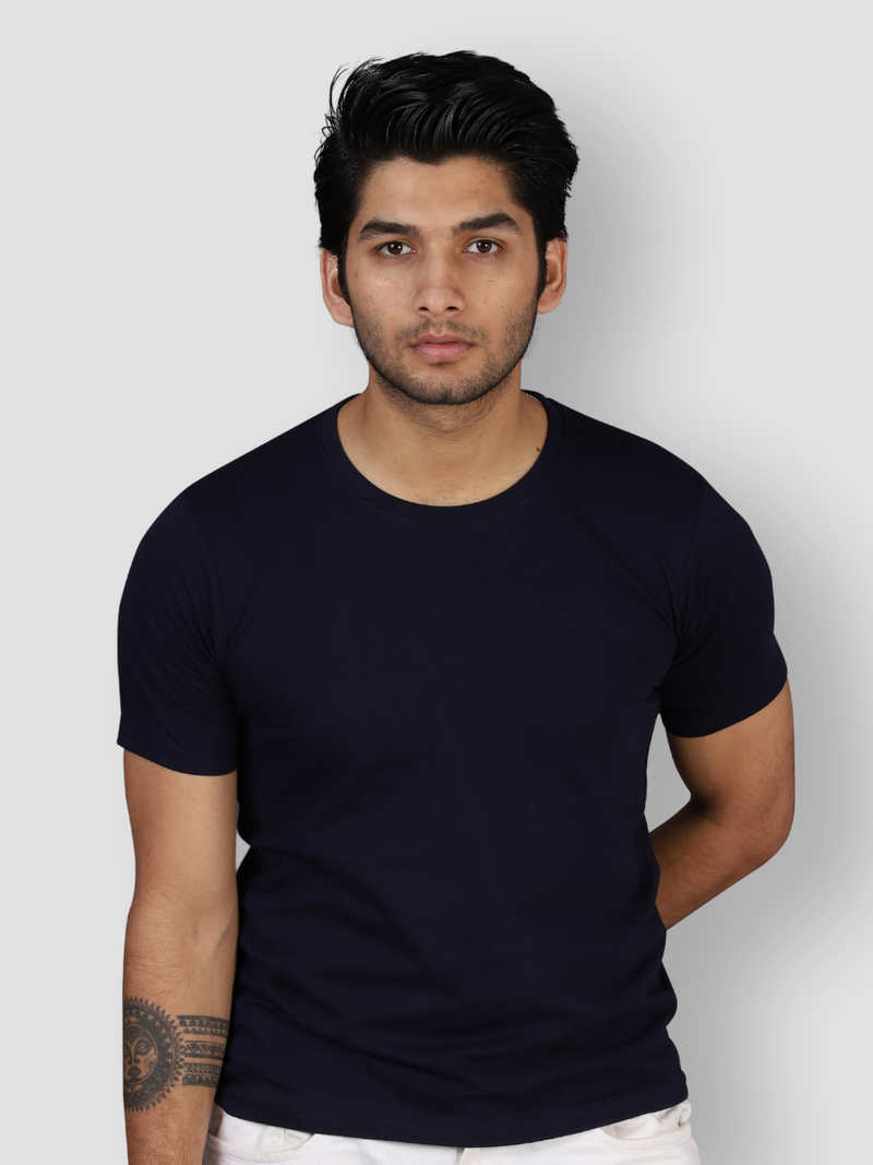 Fusion Combo: Idealist White, Elemental Lake Blue & Midnight Black T-shirt (Pack of 3)