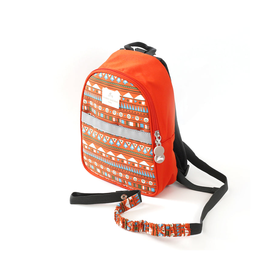 Patterned Toddler Harness Backpack - Anti Lost Kids Travel Bag with Detachable Safety Leash