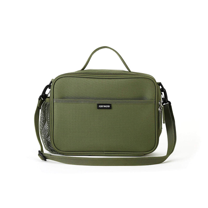 olive green Perry Mackin lunch box