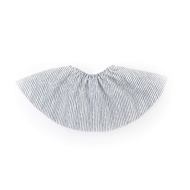 Certified Organic Cotton Round Bib - Blue Stripe