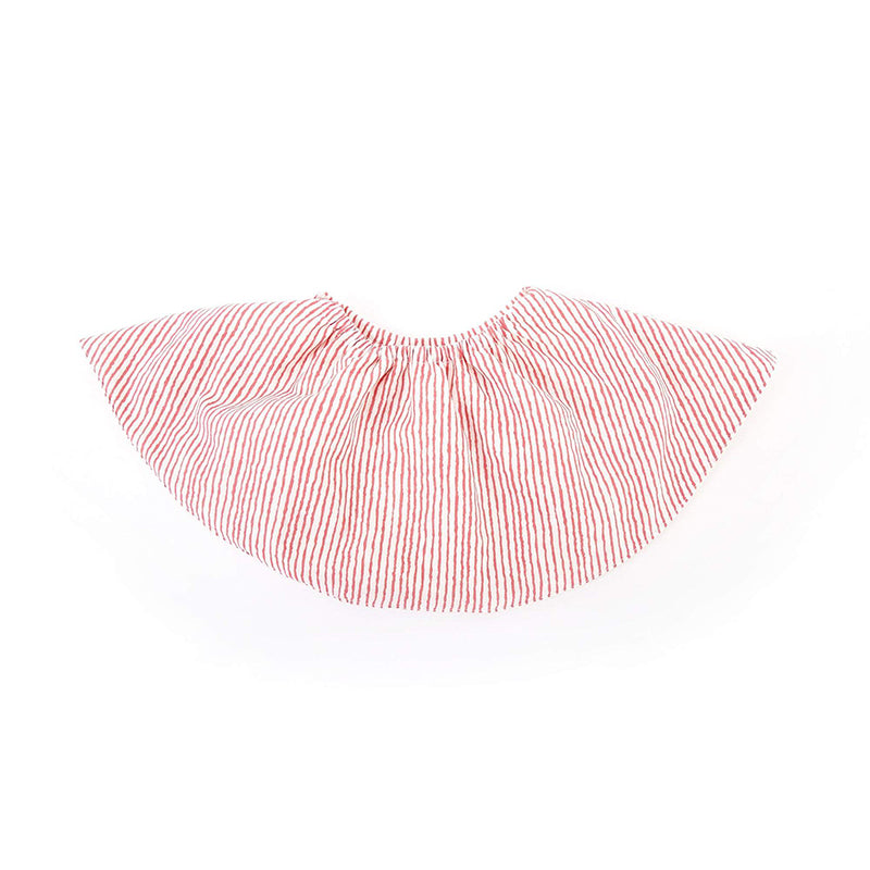 pink striped Perry Mackin bib