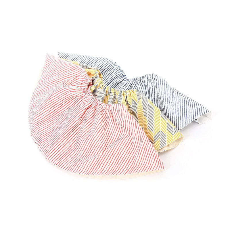 Certified Organic Cotton, Super-soft, Lightweight, Absorbent, Washable, 360-Degree Rotating Reversible Round Baby Bib