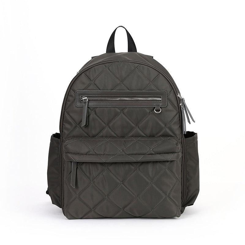 Paris Backpack - Large Capacity, Multi-function, Water-Resistant, Quilted Nylon Travel Baby Bag