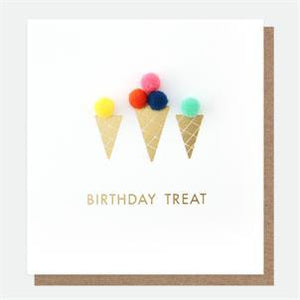 Pom Pom Birthday Card
