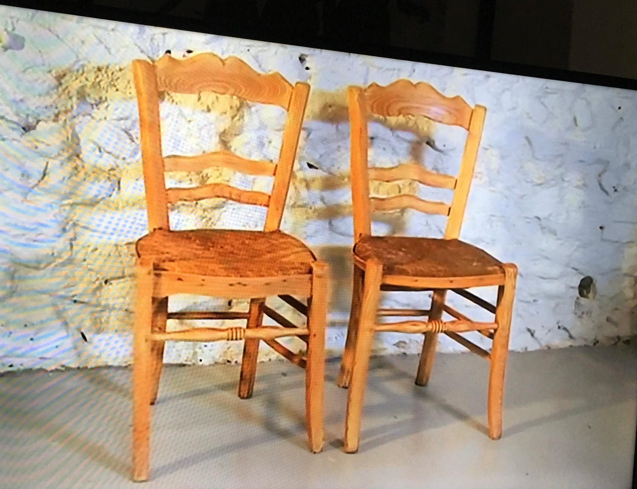 Vintage chairs from Louise Minchin. Set of 2 only.