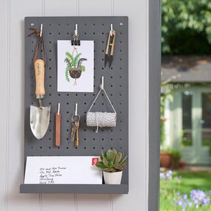 Metal peg board