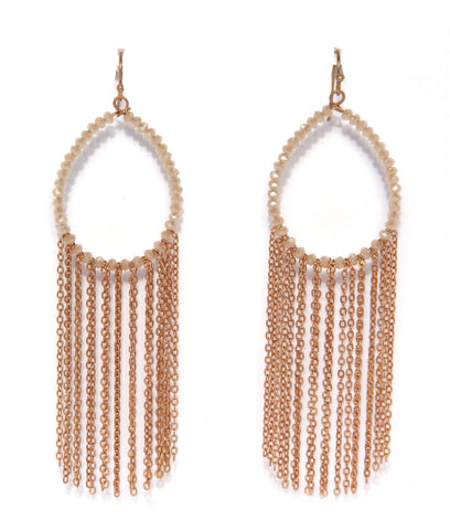 Earnings in gold chain mail hoops