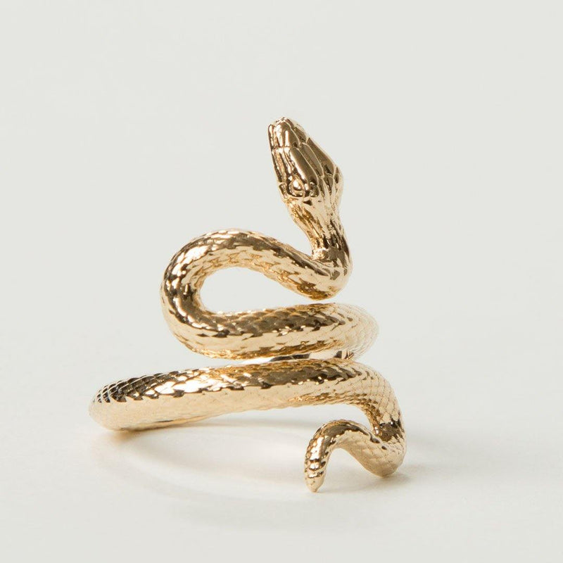 14K Solid Gold Snake Ring - No imperfection