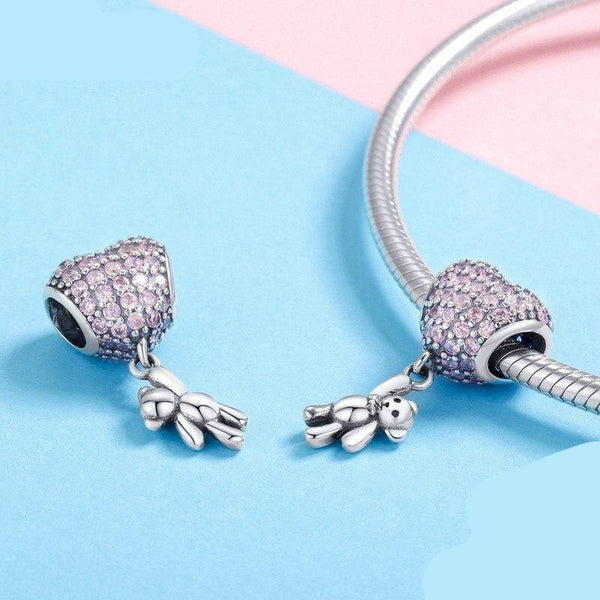 A Bear With A Big Heart Charm - No imperfection