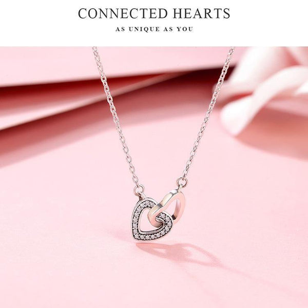 Interlocking Hearts Necklace - No imperfection