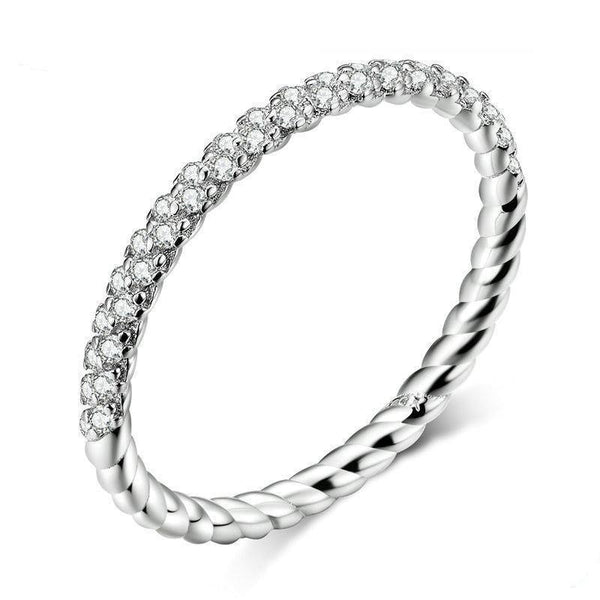 Diamond Rope Ring - No imperfection