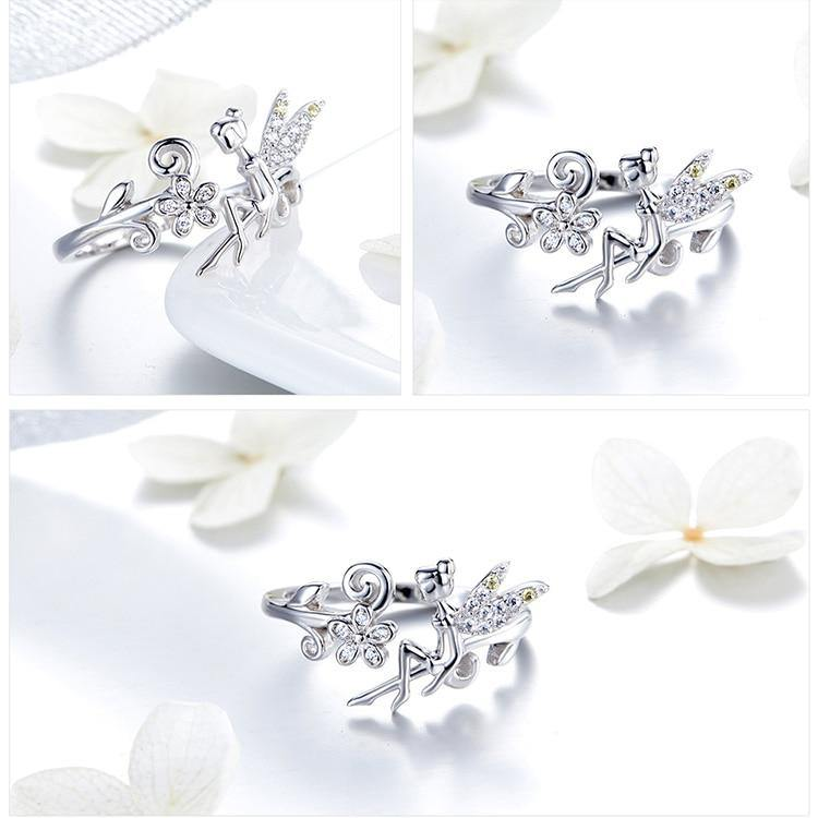Silver Fairy Adjustable Ring - No imperfection
