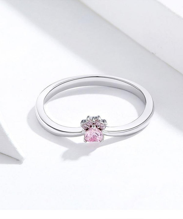 Sparkling Pink Ring - No imperfection