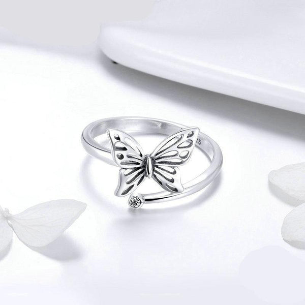 Vintage Butterfly Adjustable Ring - No imperfection