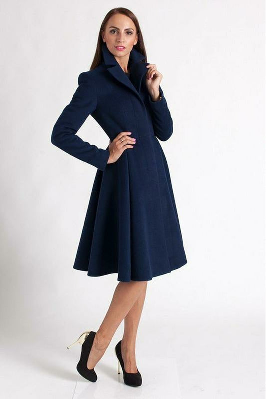 Alison wool blend flair coat