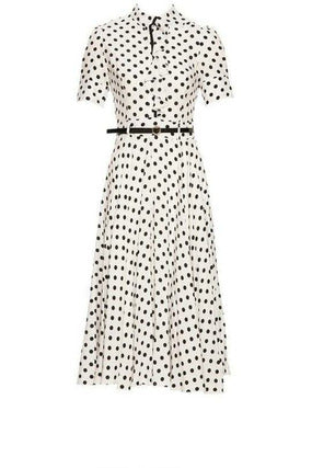 Naya Polka Dot Midi Tea Dress