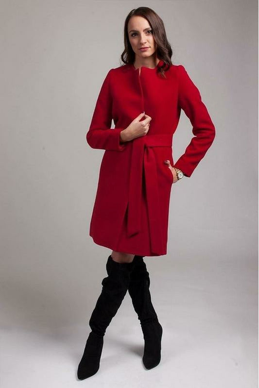 Allegra belted robe wool blend coat