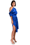 Diana asymmetric premium satin dress