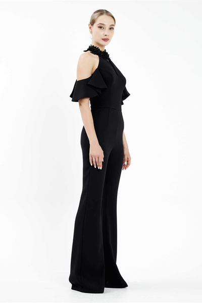 Meghan cold shoulder wide legs jumpsuit by Odrella
