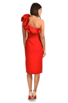Courtney exaggerated single shoulder occassion dress by Rengin