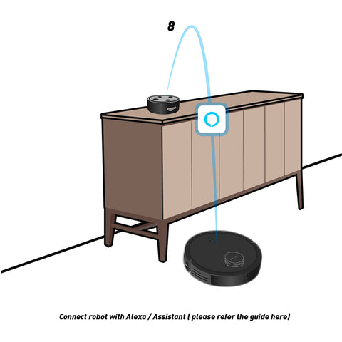 connect robot vacuum cleaner and alexa