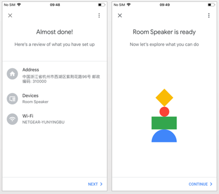 Google Assistant Connected Successful