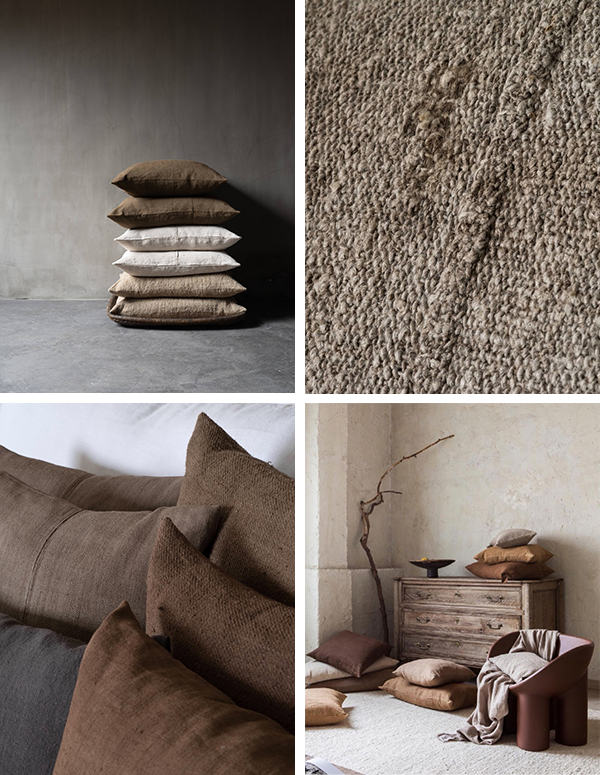 M AAH guest Isabelle Yamamoto vintage hemp pillows and textiles