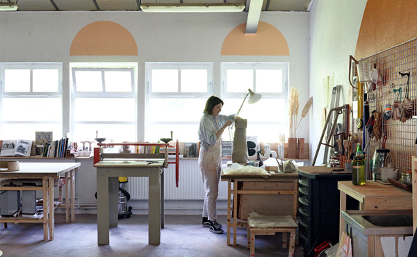 view of Lea Munsch's atelier where she creates unique art objects