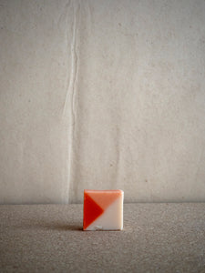pink and red natural soap with powder fragrance by Ciment Paris