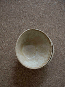 top view of a handmade ceramic cup with beautiful glaze