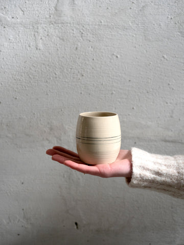 hand turned ceramic tea cup by Rosa Maria Kulzer