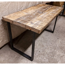 Load image into Gallery viewer, Steel & Reclaimed Scaffold Board Rustic Industrial Look Chunky Desk