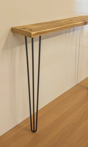 Reclaimed Scaffold Board Console / Hallway Table with Hairpin Legs