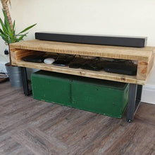 Load image into Gallery viewer, Industrial Style Reclaimed Scaffold Board & Steel Sideboard \ TV Unit \ Console Table