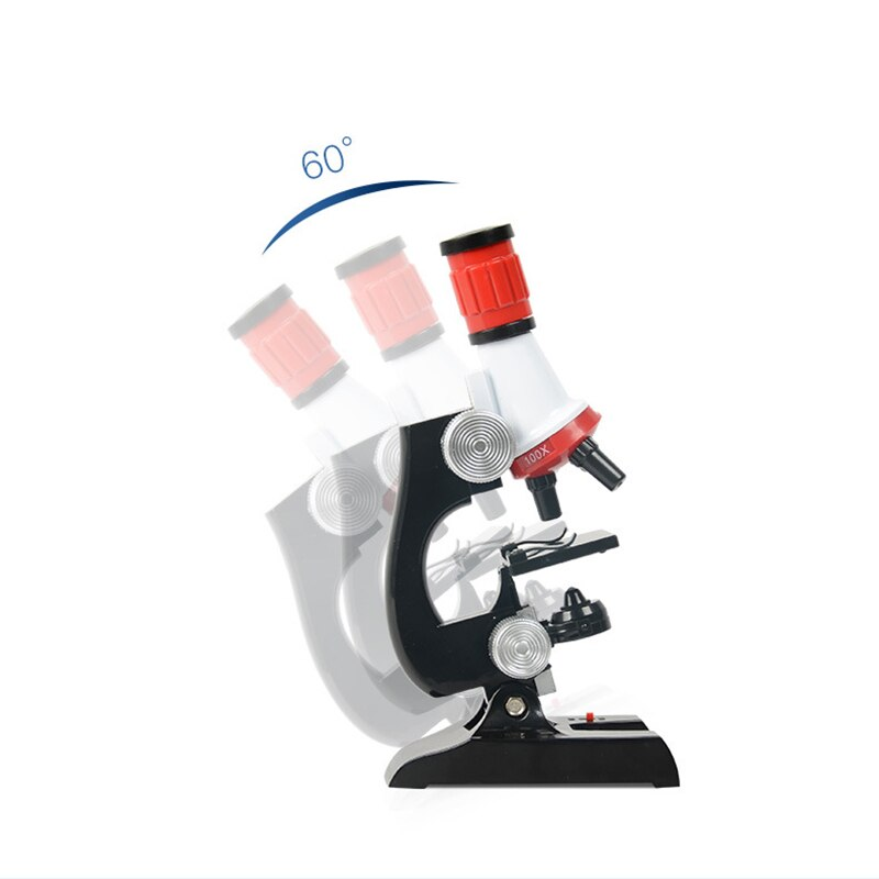 LED 100X-400X-1200X Microscope Kit Lab - F.I.Toys
