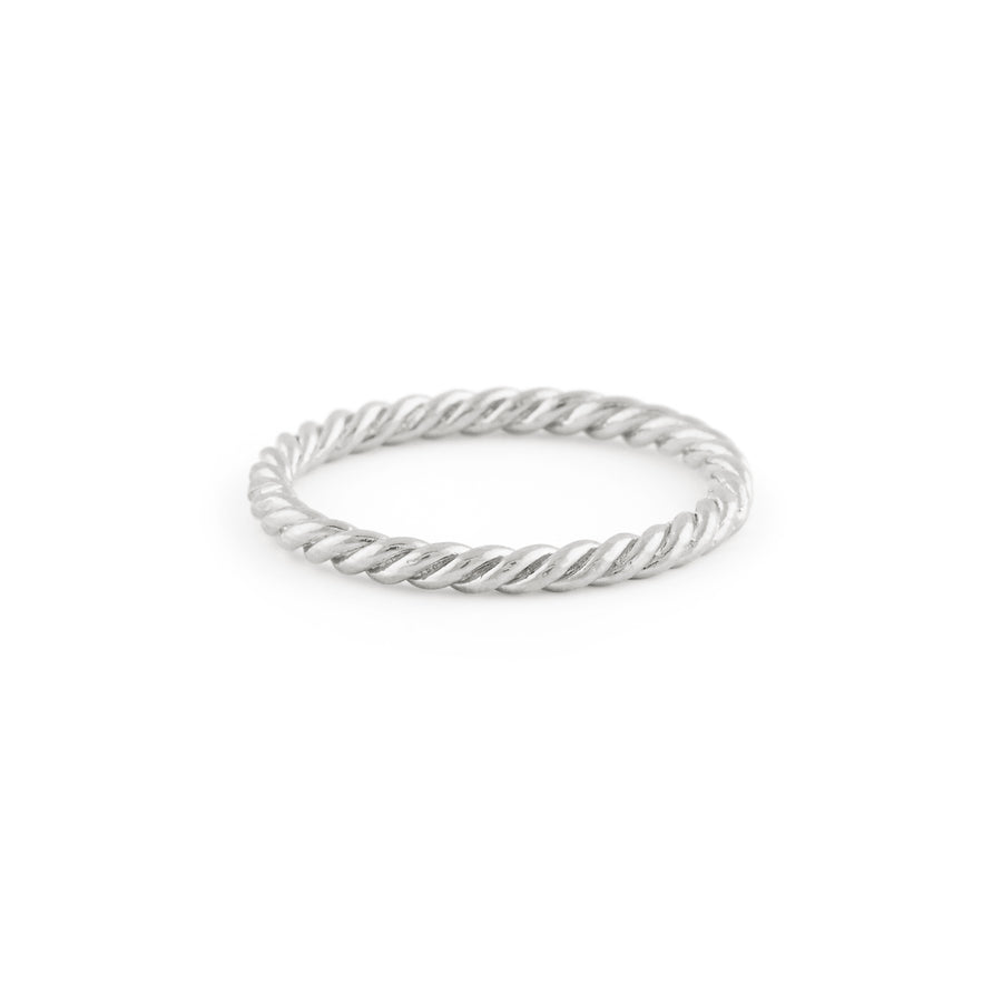 The Braided Ring In Silver