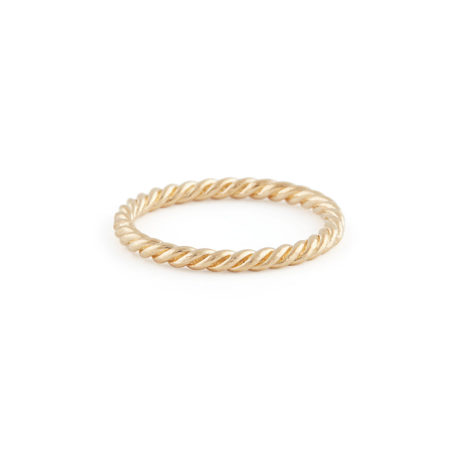 The Braided Ring In Gold
