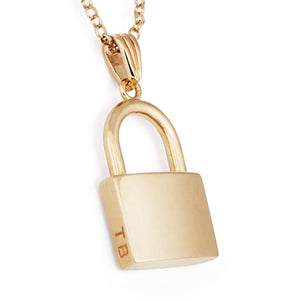 The Lock Pendant In Gold