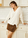 v-neck-irregular-pullover-sweater