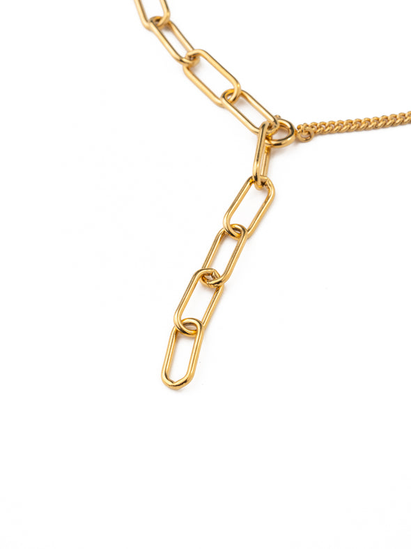 Thick Chain Stitching Y-shaped Necklace