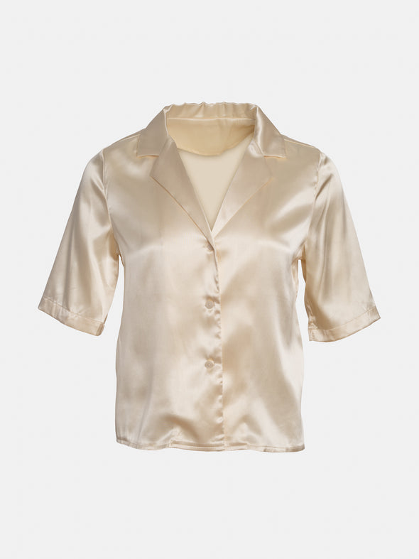Button Top Satin Shirt