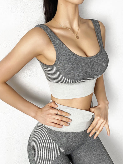 Space Dye Seamless Quick-Dry Sports Bra