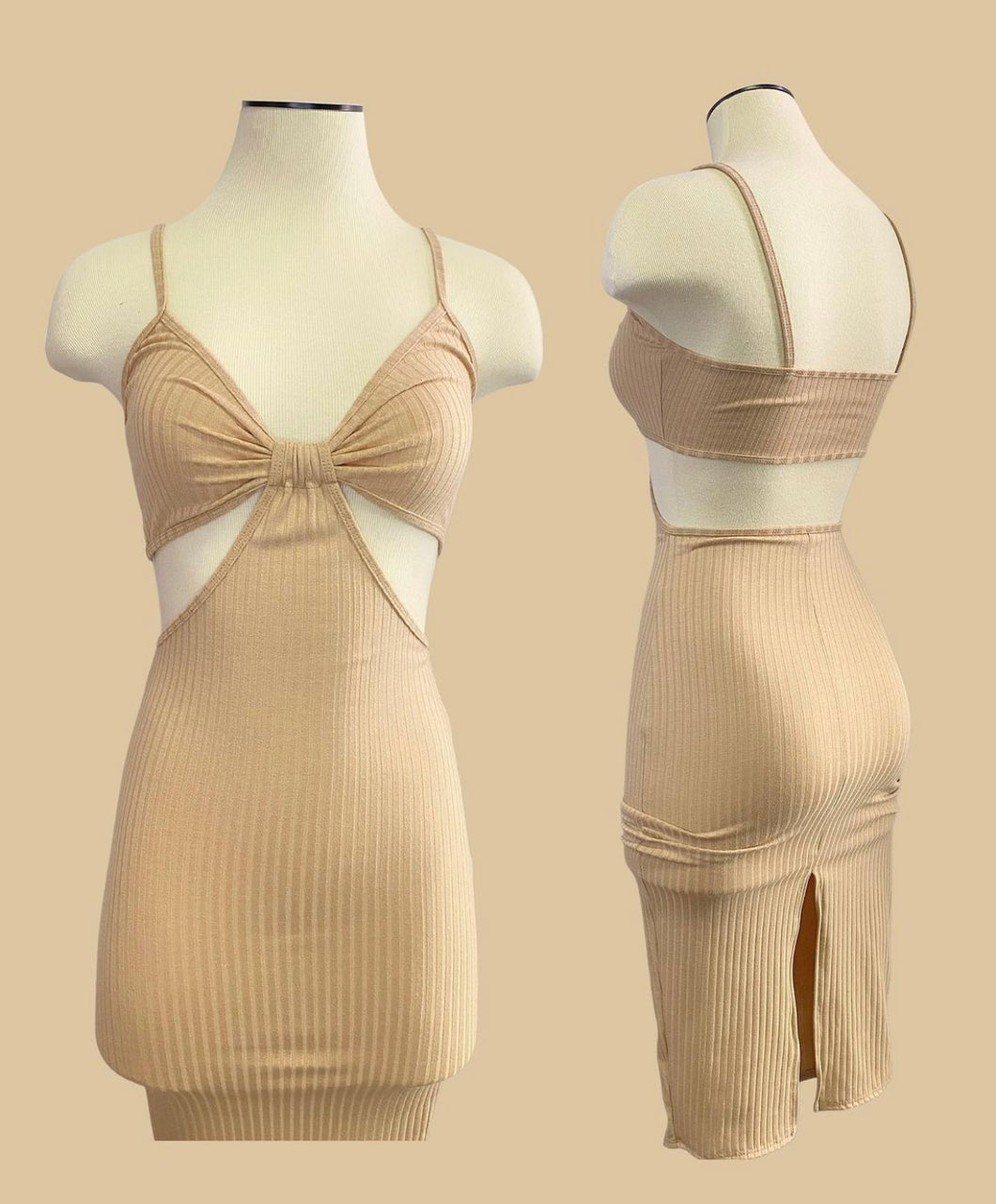 Bella Dress (beige)