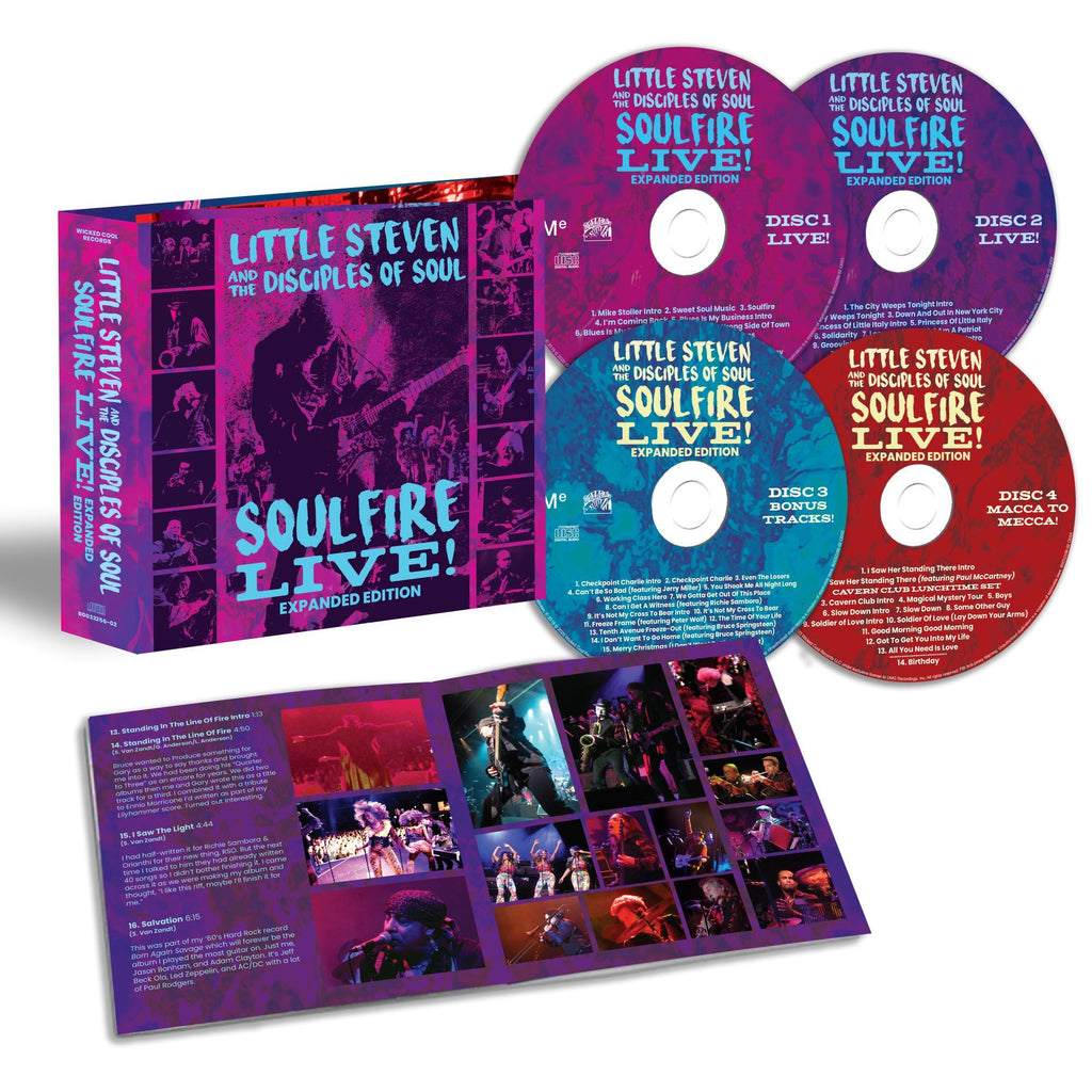 Little Steven, The Disciples Of Soul | Soulfire Live! (4CD)