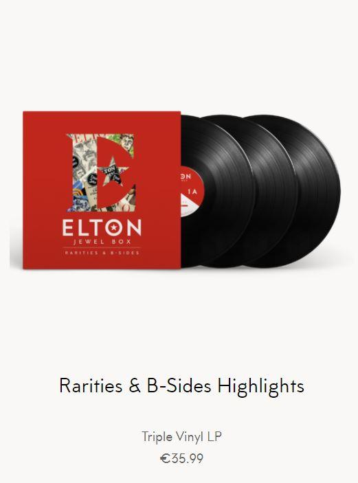 Elton John - Rarities & B-Sides Highlights 3LP