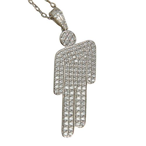 Billie Eilish | Sterling Silver Blohsh Pendant Jewelled Necklace
